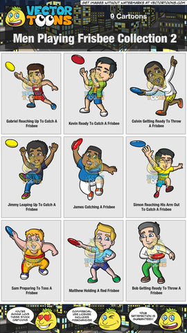 Men Playing Frisbee Collection 2
