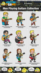 Men Playing Guitars Collection
