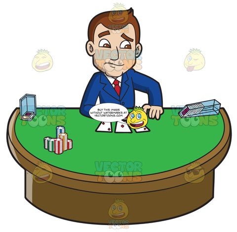 A Businessman Playing Poker