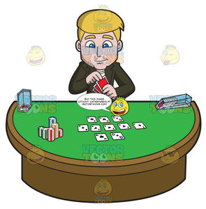 An Eager Man Playing Poker