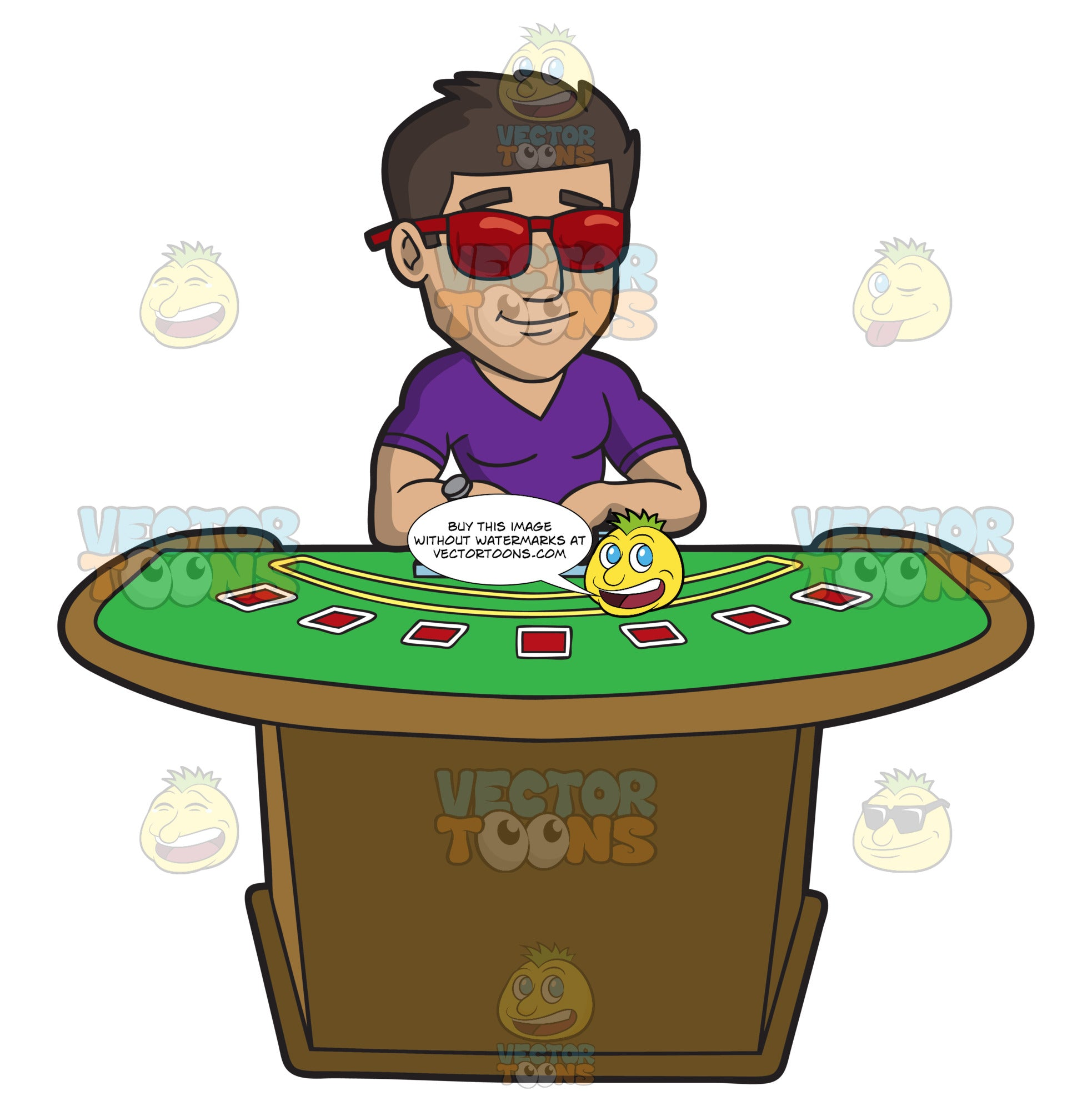 A Cool Guy Playing Poker