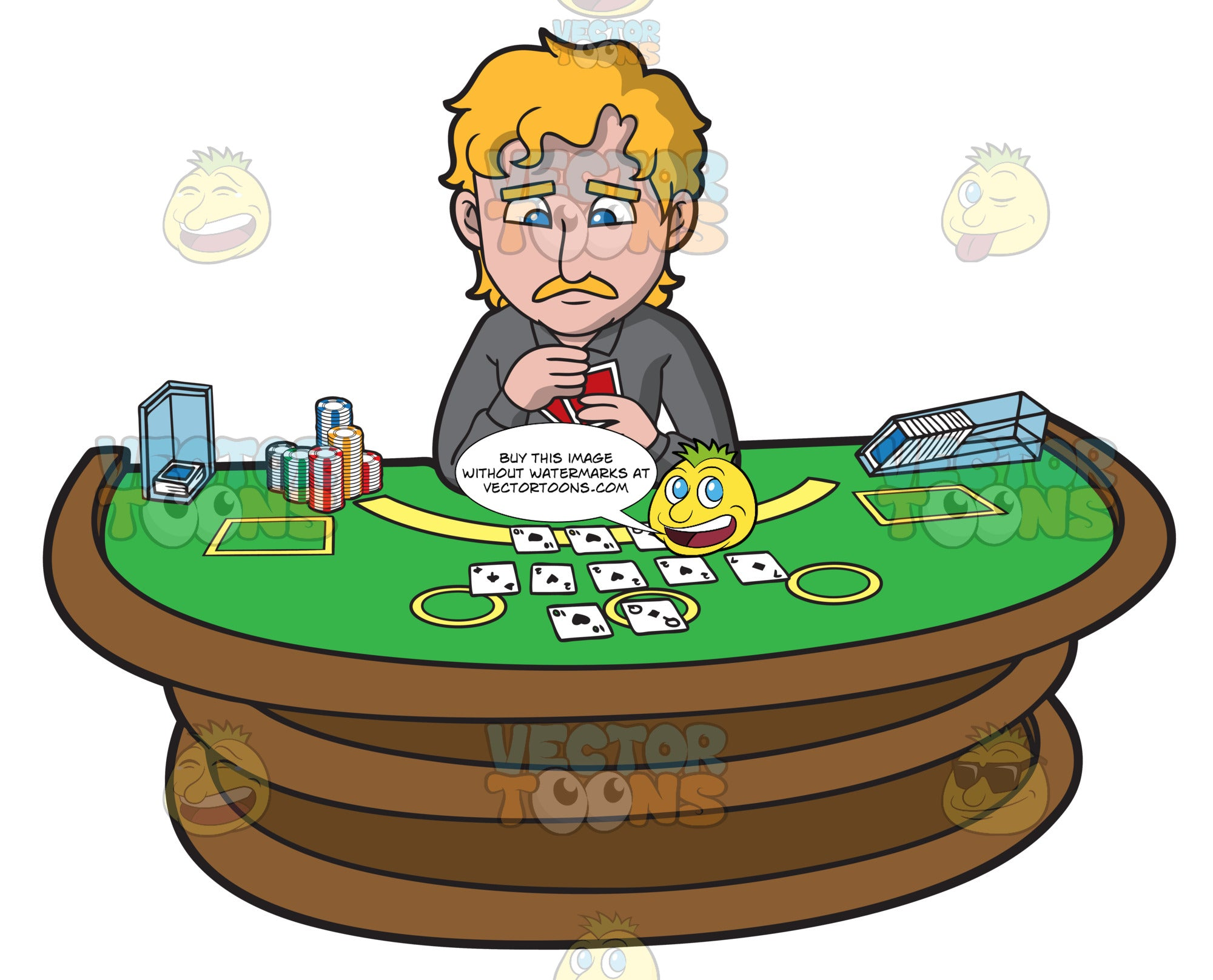 A Sad Man Playing Poker