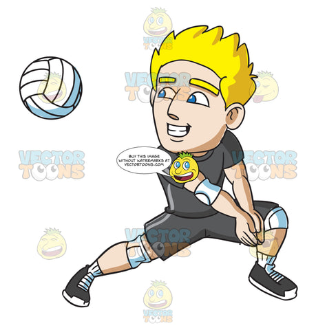 A Male Volleyball Player Preparing For A Forearm Pass