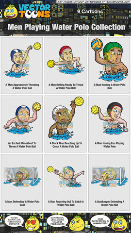 Men Playing Water Polo Collection