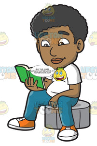 A Black Guy Reading A Book