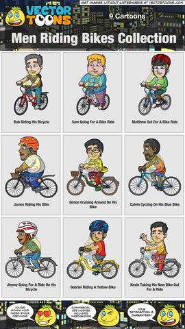 Men Riding Bikes Collection