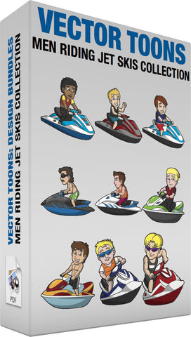 Men Riding Jet Skis Collection