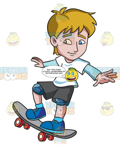 A Teenager Practicing How To Ride A Skateboard