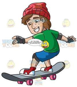 A Teenager Having So Much Fun On His Skateboard