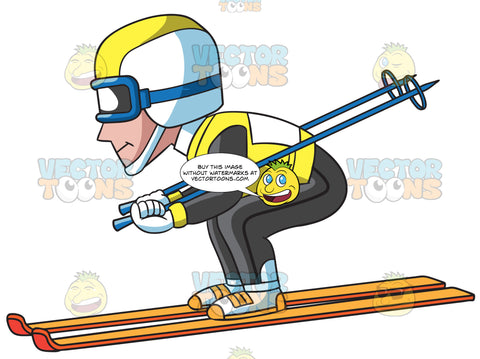 A Male Competitive Skier
