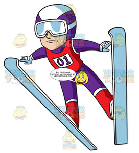 A Male Ski Jumper