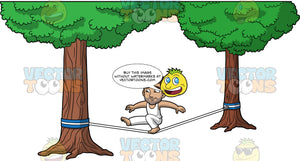 Gabriel Balancing On One Foot On A Slackline. A Hispanic man wearing white pants and a white tank top, bending one knee and sticking his other leg straight out while balancing on a slackline