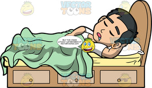 Kevin Drooling In His Sleep. An Asian man wearing a white t-shirt, lying in his bed, covered with a light green blanket and sleeping soundly with with his mouth open and drool coming out of it