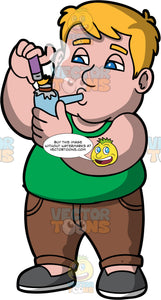 Sam Using A Pipe To Smoke Crack. A chubby man wearing brown pants, a green tank top, and gray shoes, standing and smoking crack in a pipe