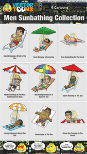 Men Sunbathing Collection