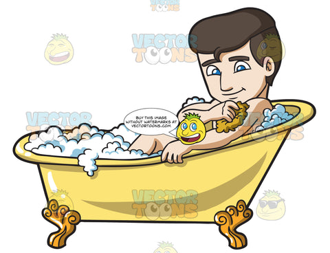 A Man Scrubbing In A Tub