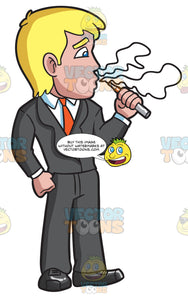 A Businessman Vaping