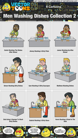 Men Washing Dishes Collection 2