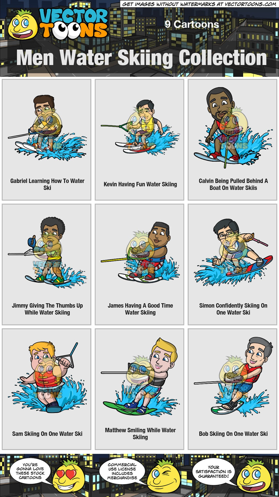 Men Water Skiing Collection
