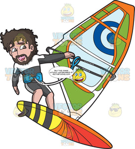 A Man Windsurfing