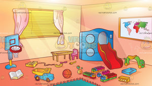 Messy Kids Play Room Background