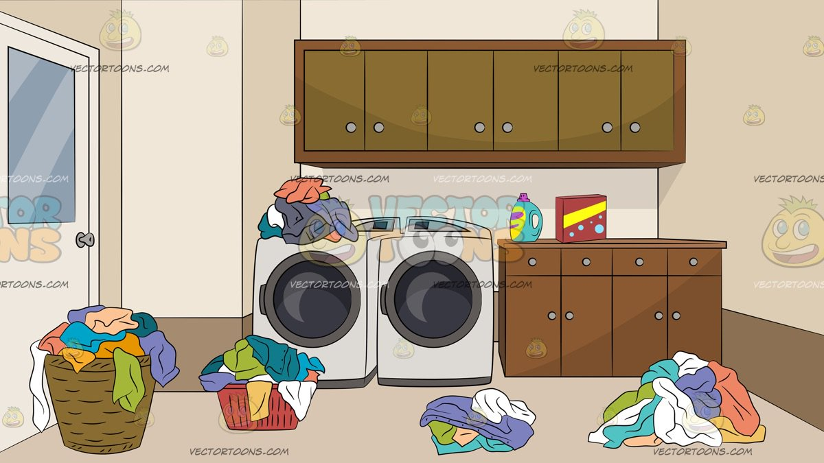 Messy Laundry Room Background – Clipart Cartoons By ...