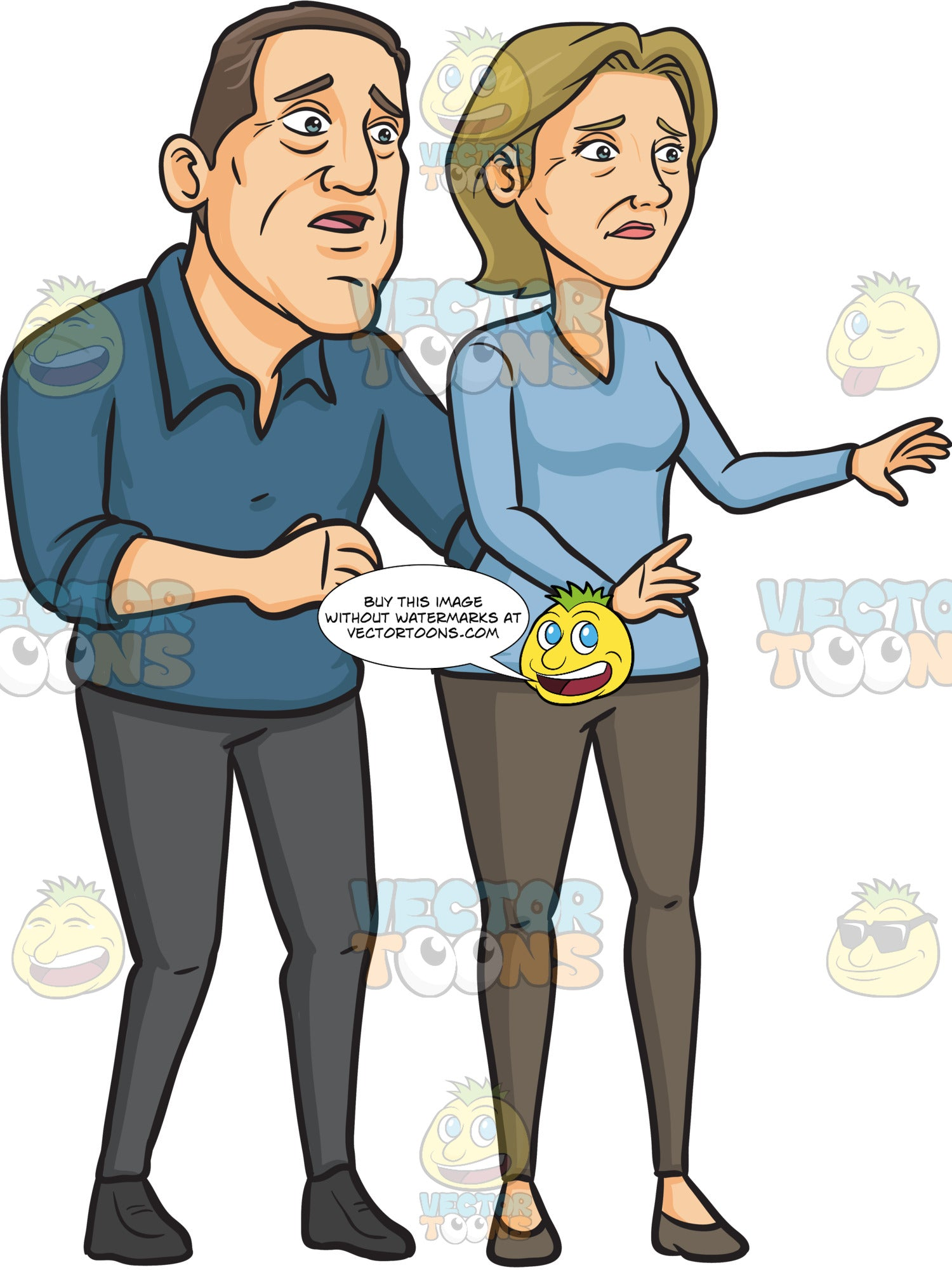 A Worried Middle Aged Couple