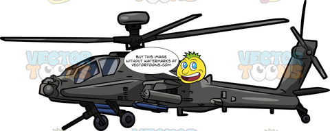 A Boeing Ah64 Apache Helicopter