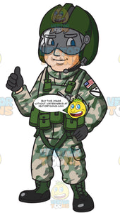 A Us Army Helicopter Pilot Giving The Thumbs Up Sign