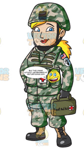 A Female Army Medic