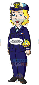 A Female Us Coast Guard In Service Dress Blues