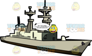 A Military Destroyer Ship
