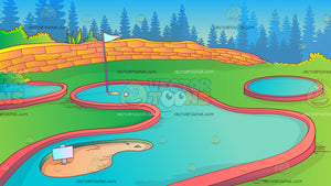 Mini Golf Course Background