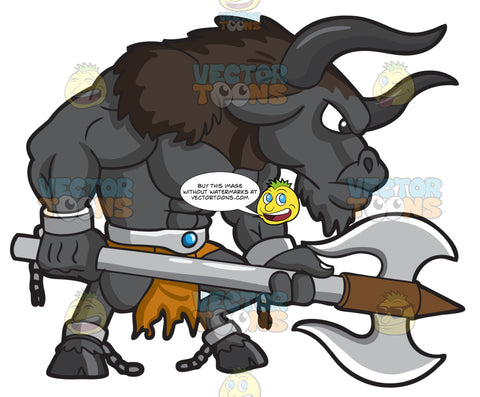 A Big Minotaur Warrior