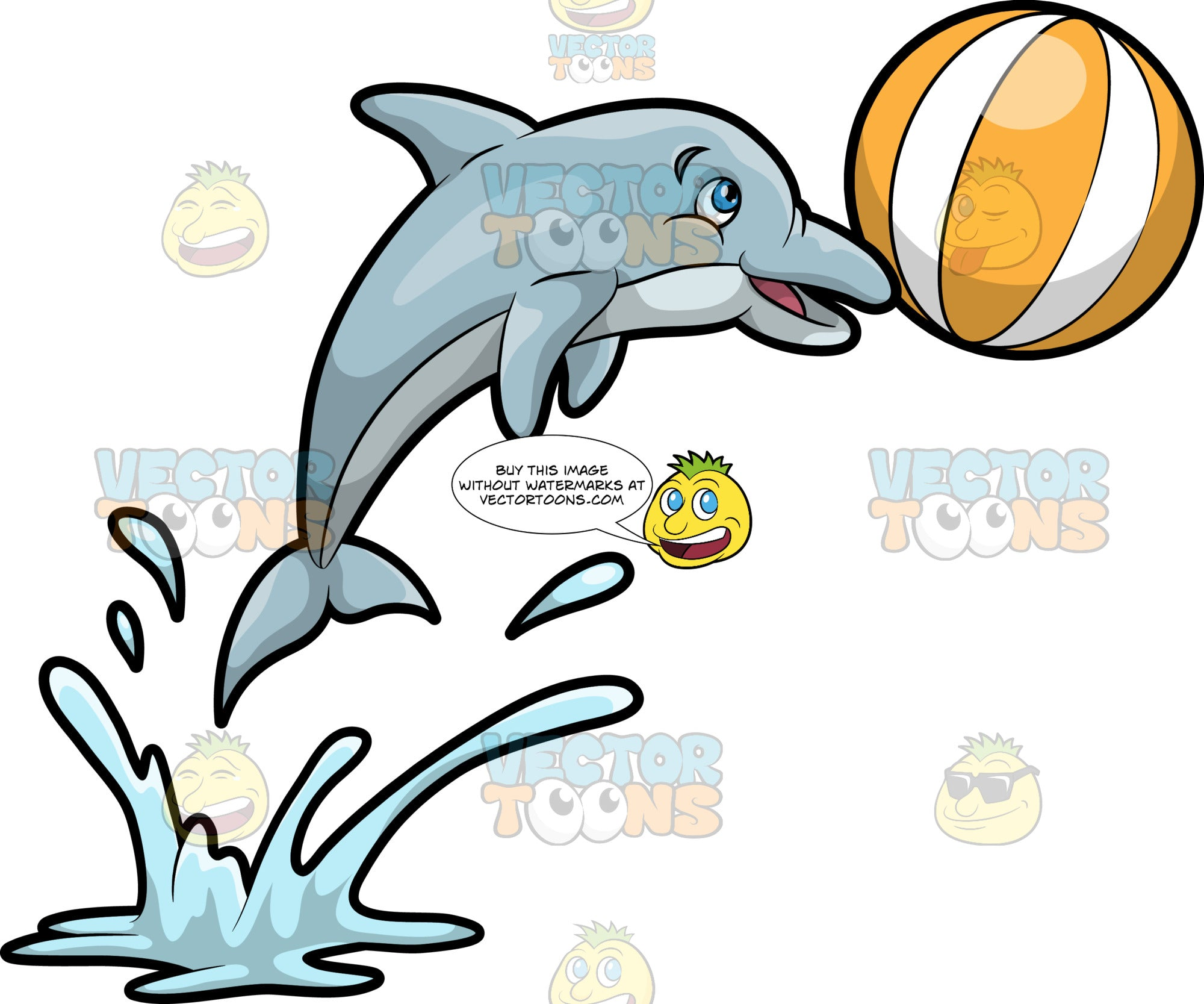 A Dolphin Playing With A Ball
