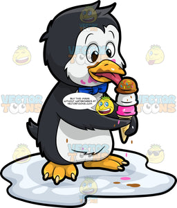 An Ice Cream Loving Penguin