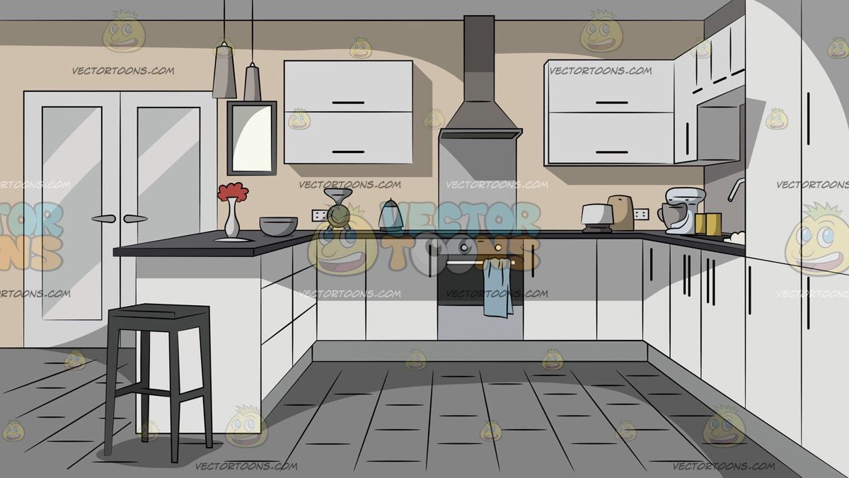 Modern Household Kitchen Background Clipart Cartoons By