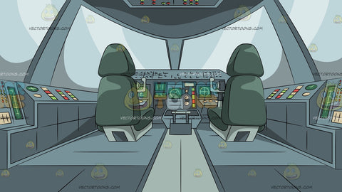 Modern Jet Cockpit Background