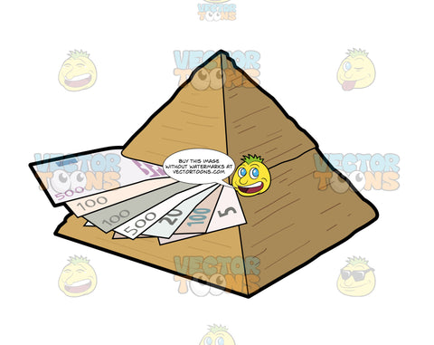 Money Trapped By A Pyramid