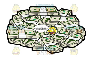 Bunch Of Money Forming A Circle