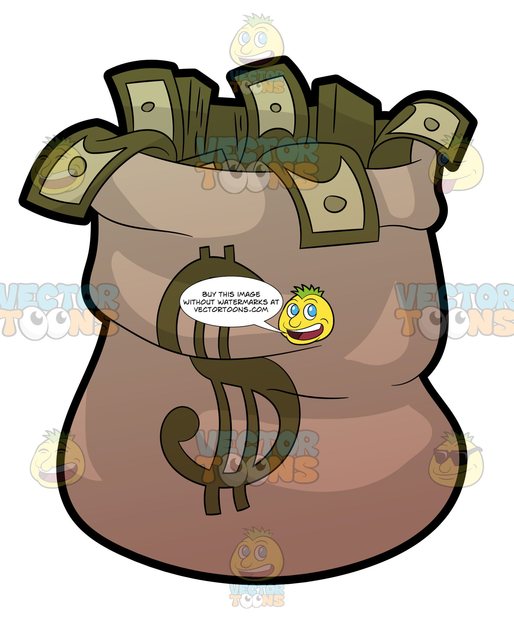 A Burlap Sack Full Of Money