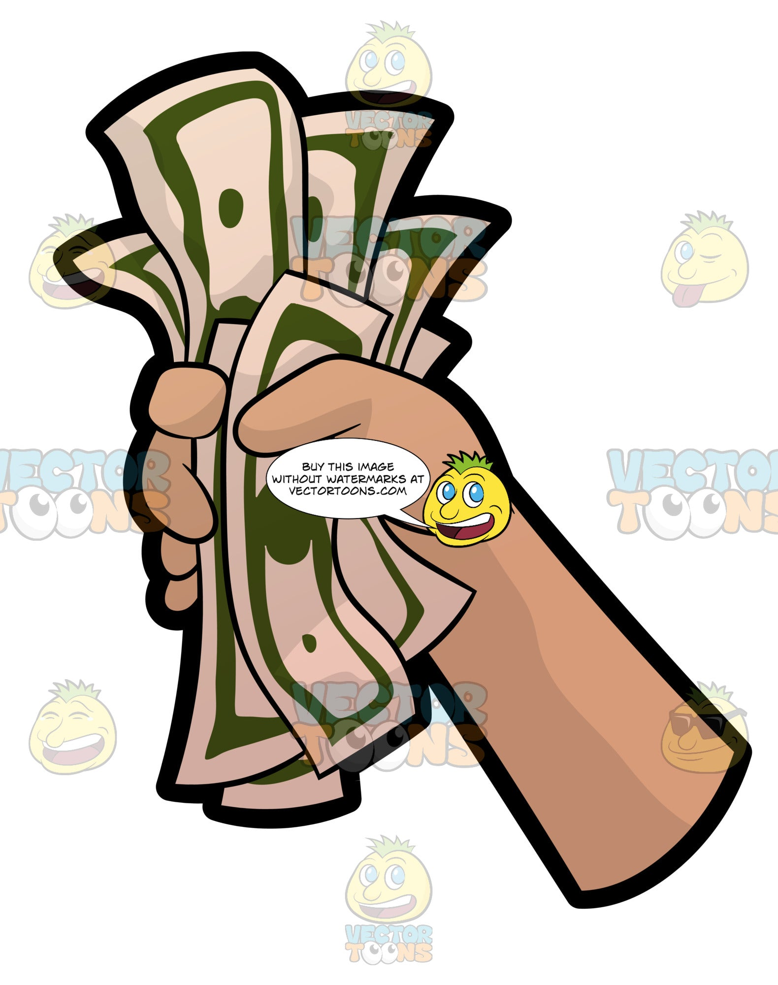 A Hand Holding A Fist Full Of Money