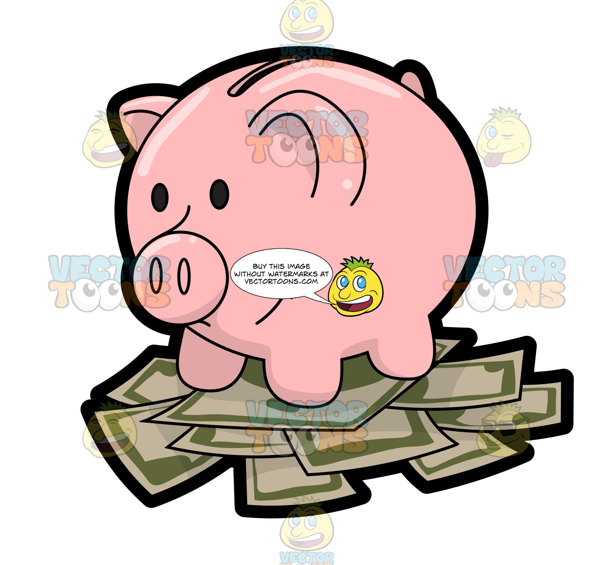 A Nice Piggy Bank With Savings