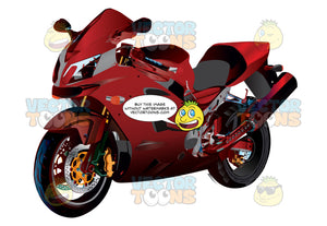 Red Crotch Rocket Motorcycle