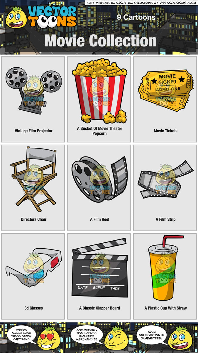 Movie Collection Clipart Cartoons By Vectortoons
