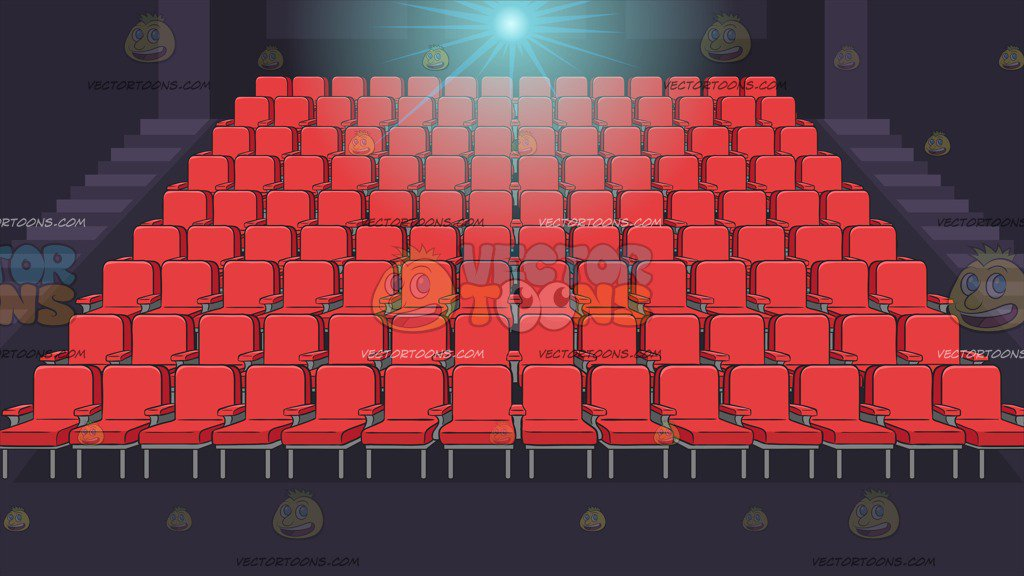 Movie Theater Seats Background – Clipart Cartoons By ...