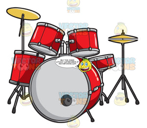 A Drum Kit With Symbols