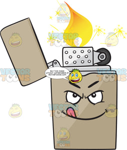 Naughty Look On Metal Lighter Emoji