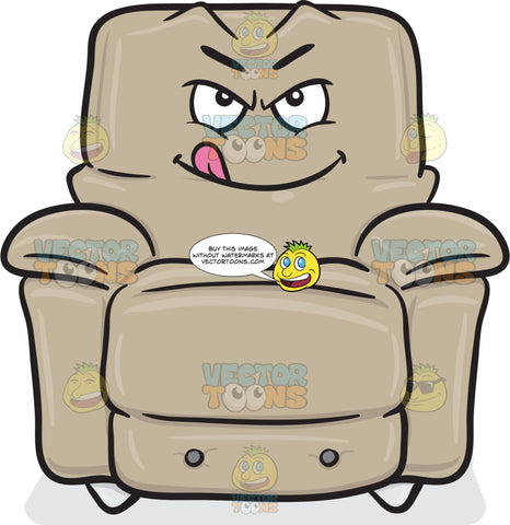 Naughty Stuffed Chair Licking Lips Emoji