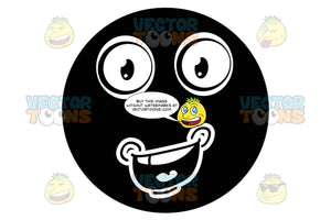 Exuberant Black Smiley Face Emoticon